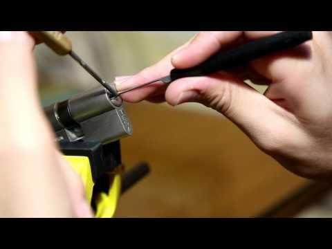 Взлом отмычками Tesa T10P   59 - Lockpicking TESA T10P