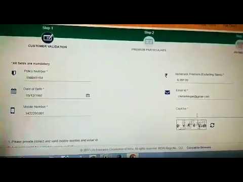 LIC Online Premium Payment Process