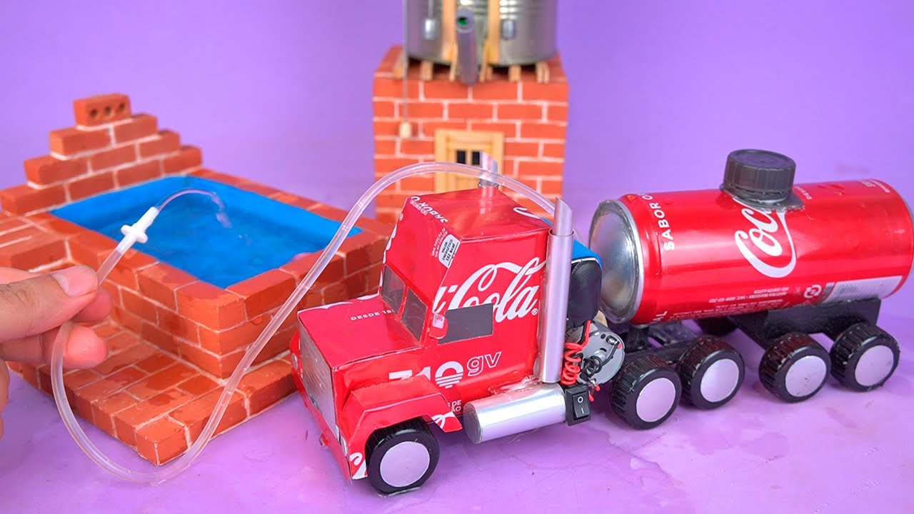 Amazing MINI WATER TRUCK made with recyclable materials