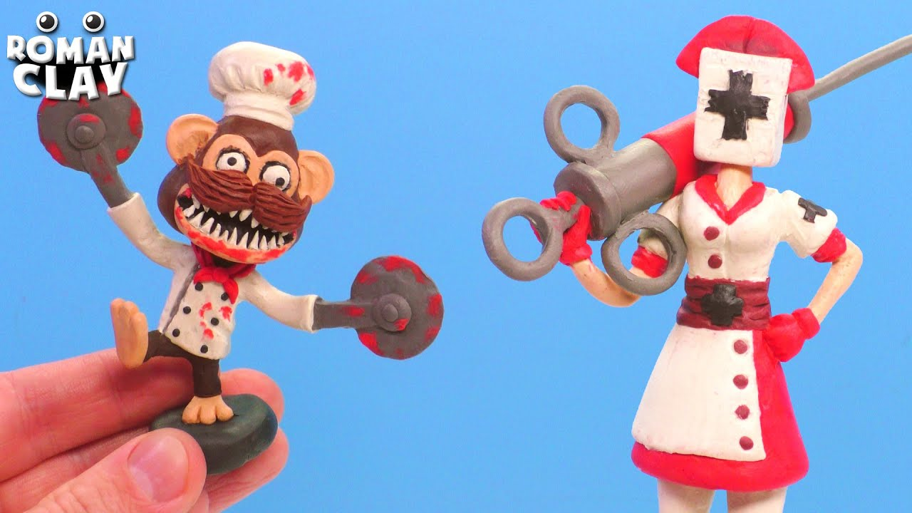 Chef Monkey and Reaper Nurse Dark Deception Chapter 4 with Clay   Roman Clay Tutorial