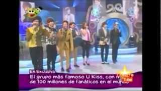 U-Kiss participa do programa Dos Sapos Una Reina no Peru do dia 01/...