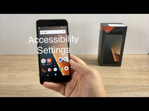 Vodafone Smart V8 Accessibility Settings