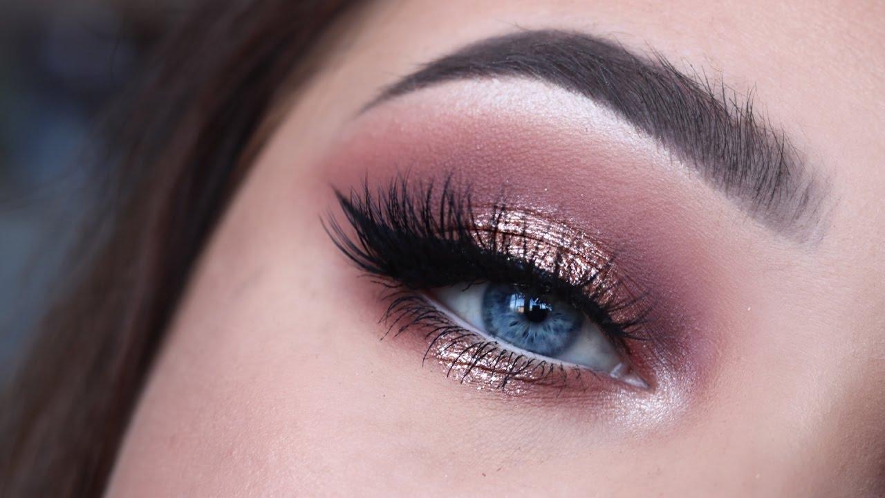 Rose Gold Glitter | Eye Tutorial - YouTube