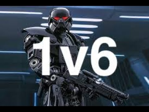 Star Wars Galactic Battlegrounds, 1v6 Hard, Playing As Galactic Empire