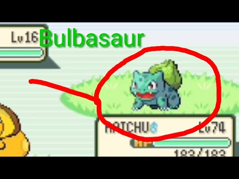 How To Catch Bulbasaur In Pokemon Fire 🔥 Red