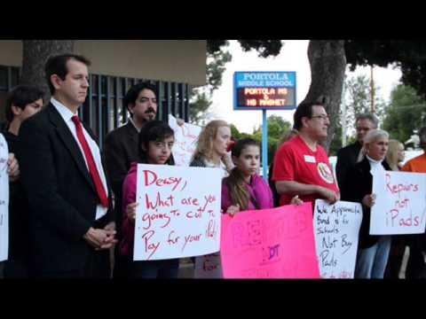 LAUSD iPad Foes Take their Case to Portola Middle School