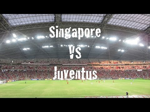 "Spectator View of Singapore VS Juventus @ SG Sports Hub (Pirlo & Giovinco Goals + ""Kallang Wave"")"