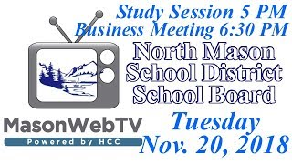 North Mason School Board November 20, 2018