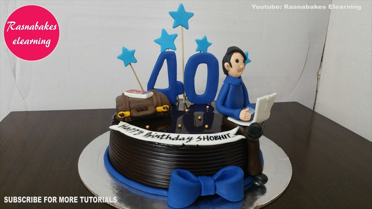 40th Birthday Cakes For Men Design Ideas Decorating Tutorial Video At Home Classes Courses Youtube