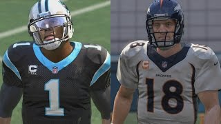 CAM NEWTON VS PEYTON MANNING @ RUNNING BACK WHO CAN SCORE A 99YD TOUCHDOWN?! MADDEN 16 CHALLENGE #13