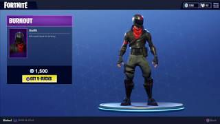 Fortnite - Burnout Skin & Tactical Spade - Store Update 3-8-18