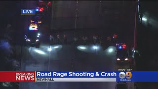 3 Detained After Car-To-Car Shooting, Crash On SB 14 In Newhall Pass