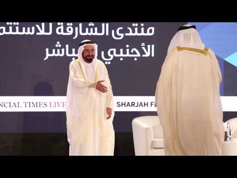 HH Ruler of Sharjah honors the sponsors of Sharjah FDI Forum