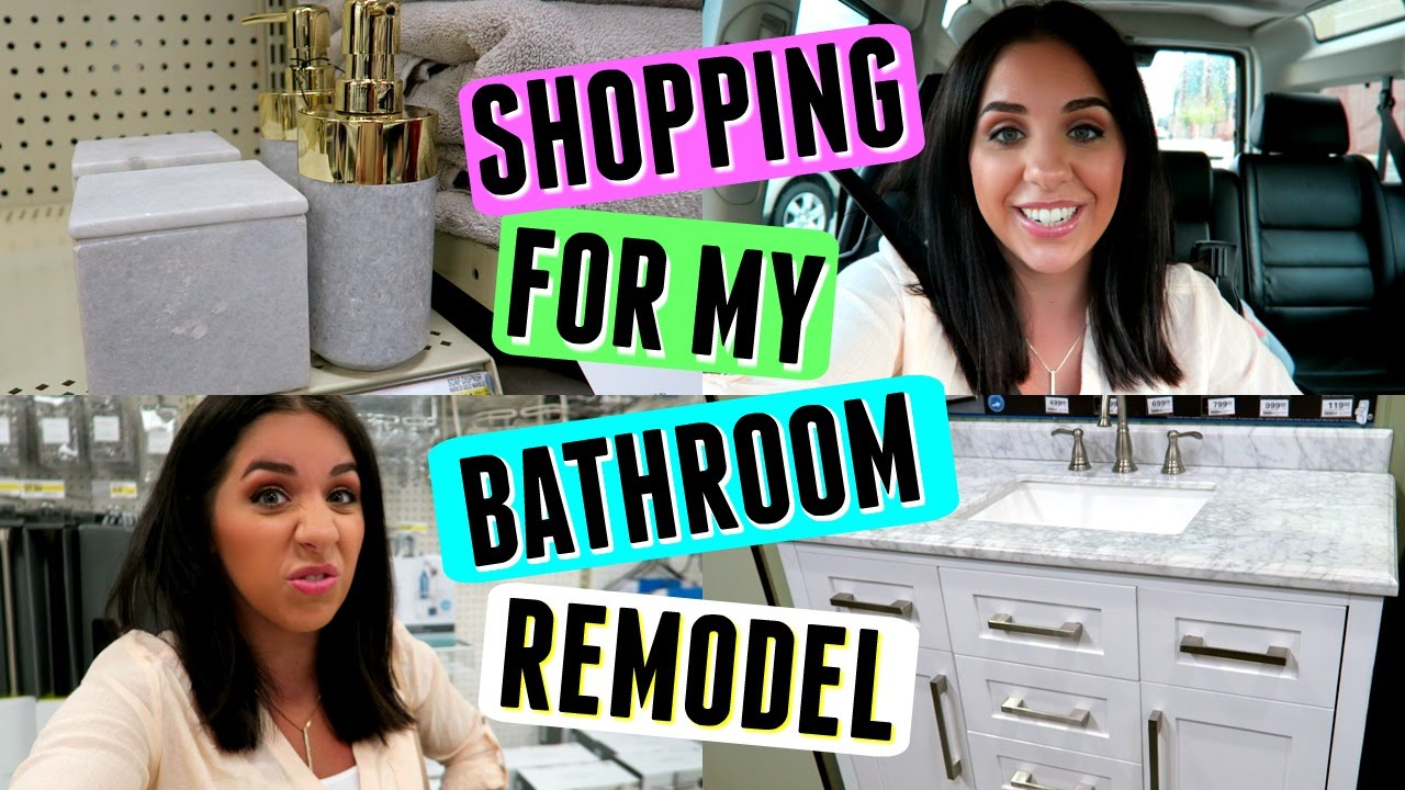 SHOP WITH ME MY BATHROOM REMODEL TARGET MENARDS YouTube - Menards bathroom remodel