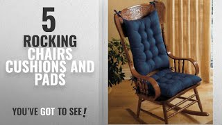 Top 10 Rocking Chairs Cushions And Pads [2018]: 2PC. PADDED ROCKING CHAIR CUSHION SET - BLUE