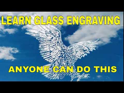 Learn Glass Engraving  Glass Etching Tools and Equipment Power Carver and 400xs review