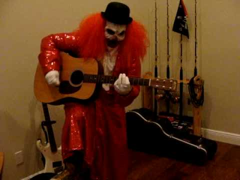 funky clown playing guitar youtube. Black Bedroom Furniture Sets. Home Design Ideas