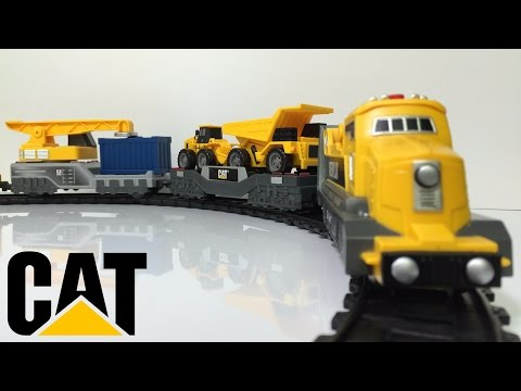 Toystate Caterpillar Iron Diesel Train Playset