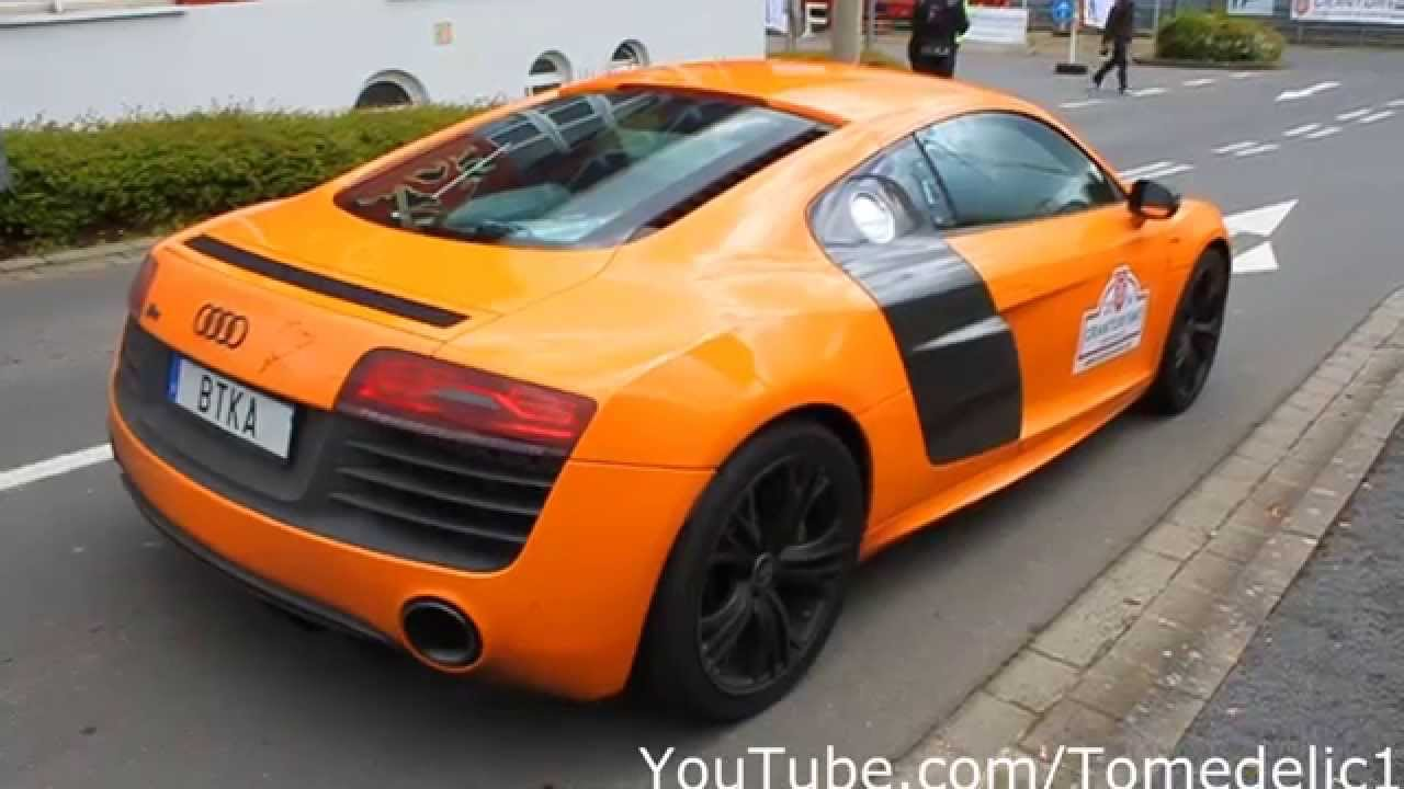 Orange Audi R8 V10 Plus Using Launch Control Youtube