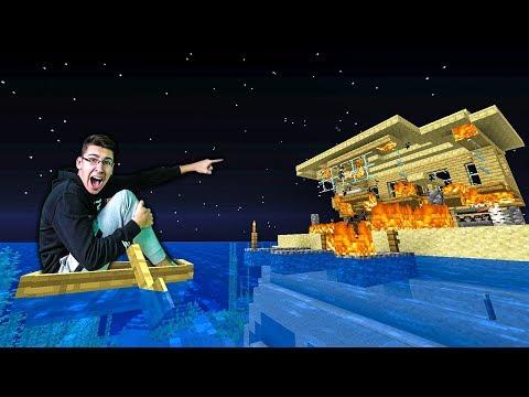 ZAPALILA MI SE KUCA OD GROMA!! NEE - Minecraft Vodeno Prezivljavanje #22