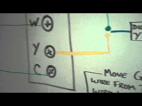 venstar add a wire installation diagram on whiteboard youtube rh youtube com Venstar Wireless Thermostat Wi-Fi 4 Wire Thermostat Wiring