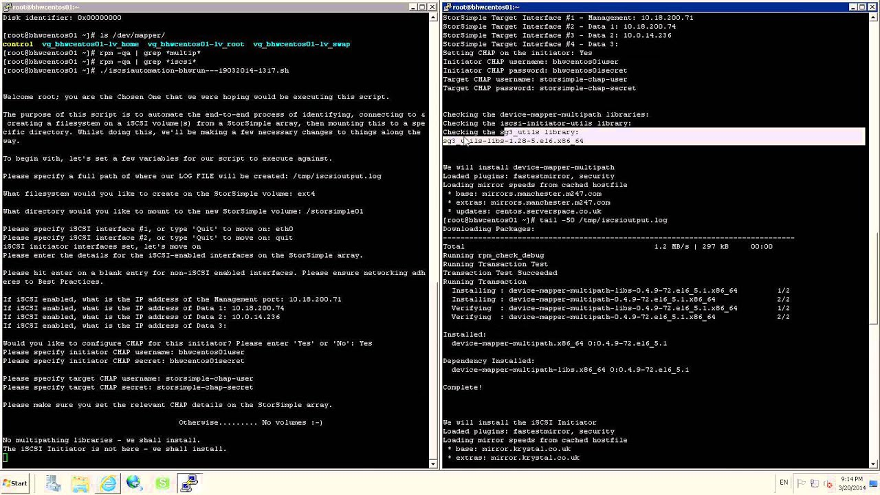 Automating iSCSI connectons to from a Linux host (Part 1)