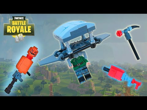 Lego Fortnite - (Tactical Shotgun, Jack-O-Launcher, Pulse Axe And Glider)