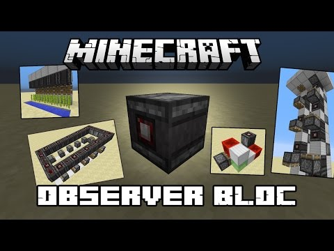 10 machines minecraft simples avec observer block