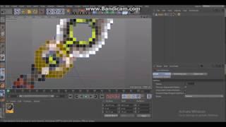 Cinema 4D - Extruded pixel art workflow