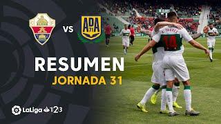 Resumen de Elche CF vs AD Alcorcón (3-1)