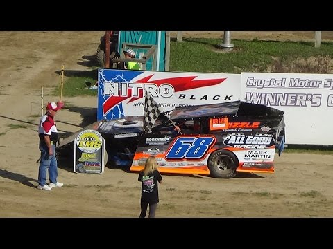 I.M.C.A. B Feature Race #2 at Great Lakes Nationals, Crystal Motor Speedway on 09-18-16