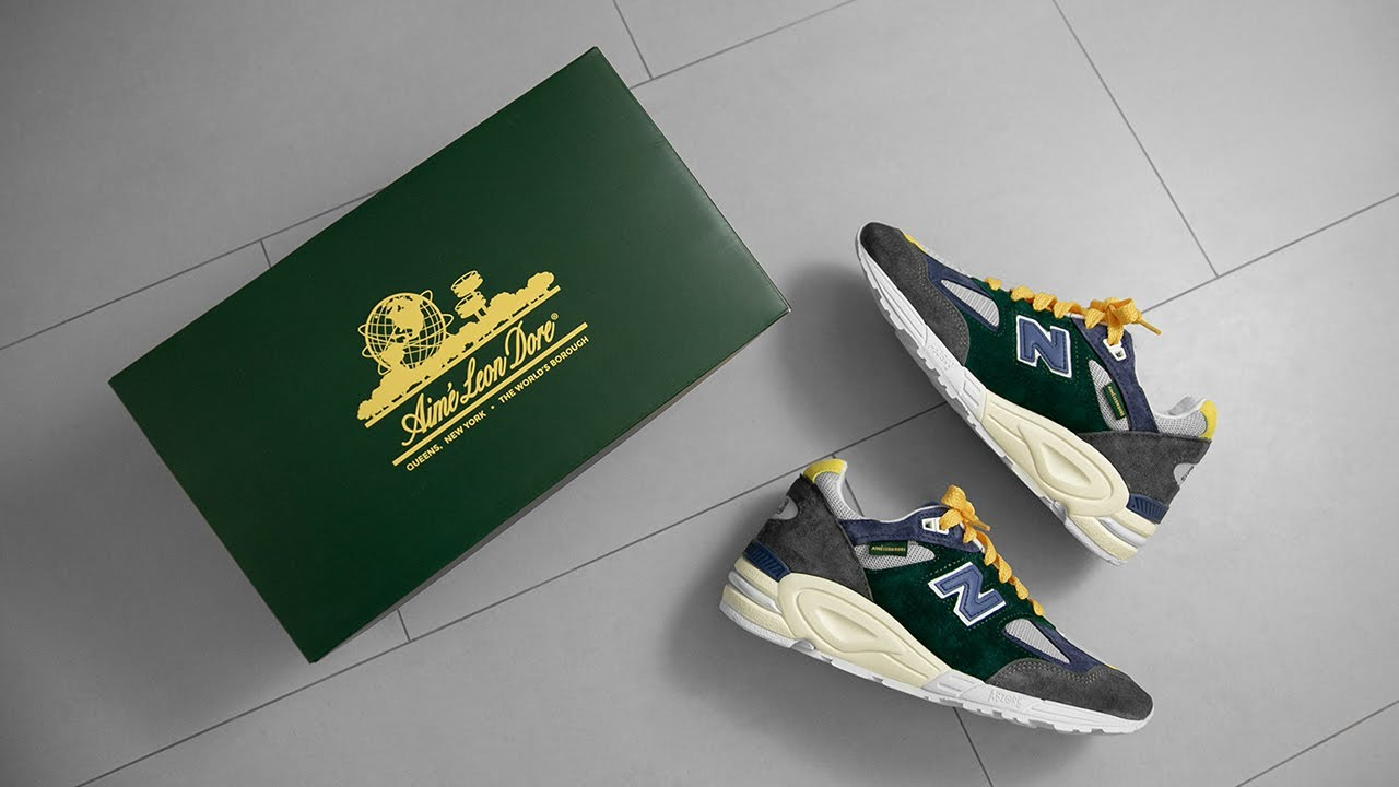 THESE ARE EVEN BETTER IN HAND + ON FOOT    AIMÉ LEON DORE X NEW BALANCE 990V2