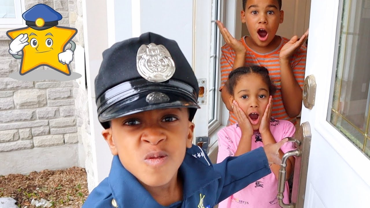 Police Kid Came to our New House!