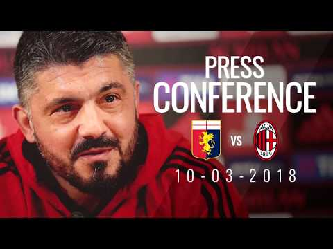 Gattuso press conference pre-Genoa v AC Milan - Serie A 2017/18