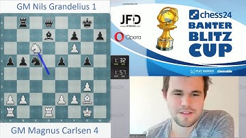 """Too much fun not to do!"" Magnus Carlsen sacrifices his queen vs. Nils Grandelius"