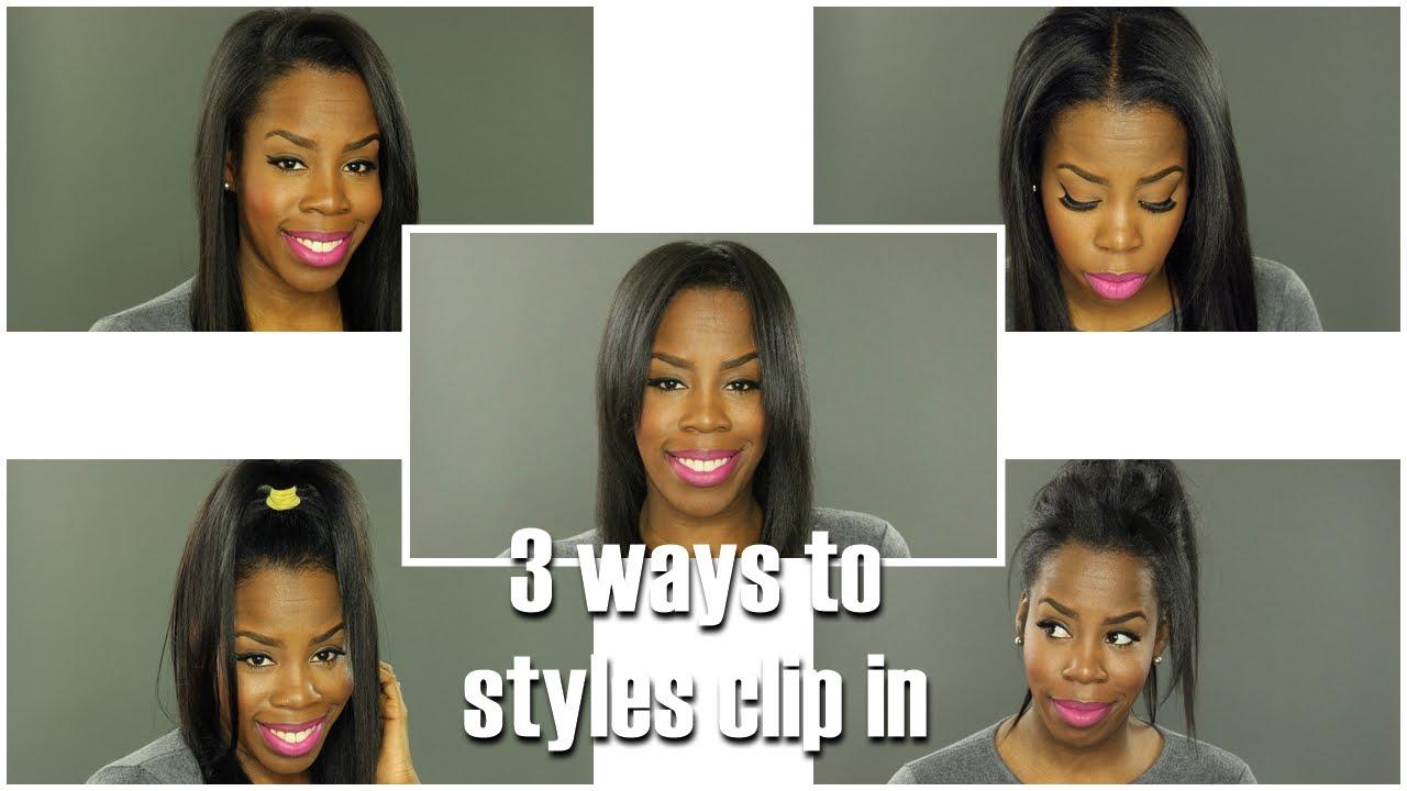 How I Style Clip Ins  Sensationnel Premium Next Hair YouTube - Next hair