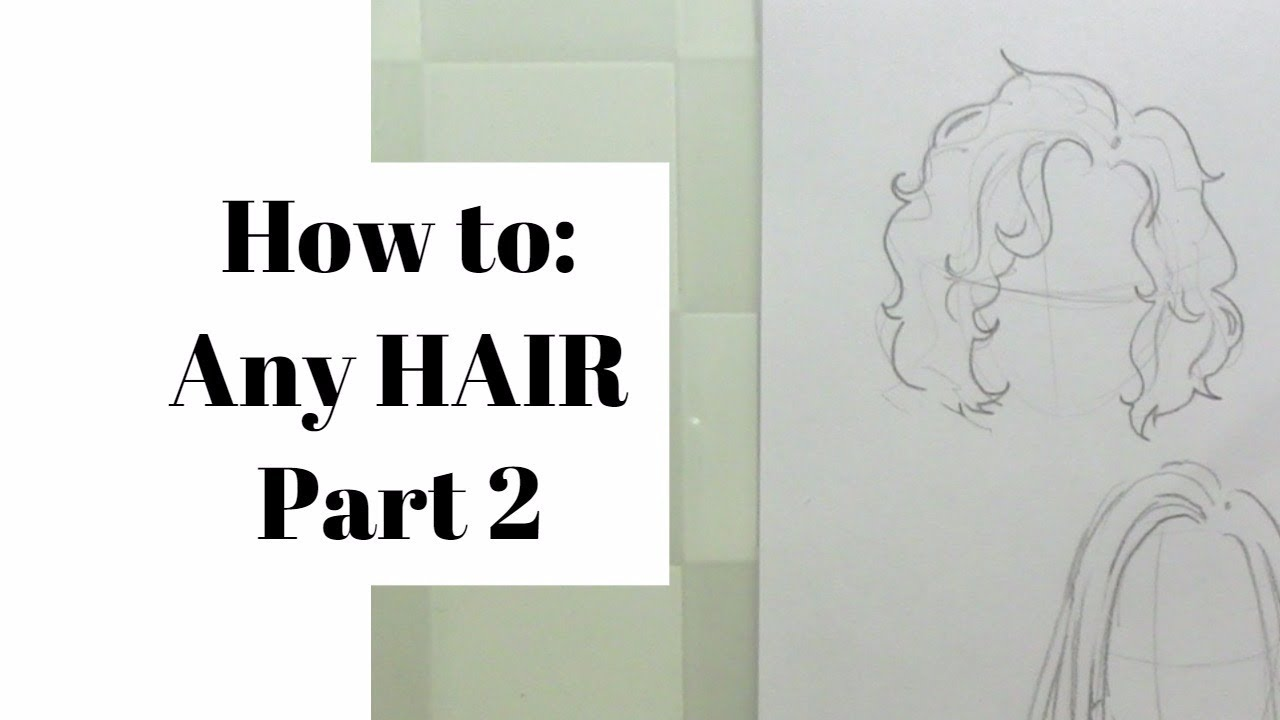 how to draw any hair