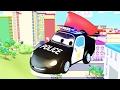 Beste von Der Streifenwagen mit dem Polizeiauto und dem Feuerwehrauto  in Car City | Autos 🚚 🚑 🚗