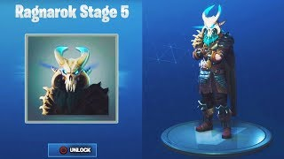 MAX RAGNAROK STAGE 5 UNLOCKED!FULLY UPGRADED RAGNAROK Level 80 Fortnite Season 5 Tier 100 Skin