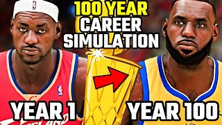I Put Lebron James In The NBA For 100 YEARS... Here's What Happened | NBA 2K21 Career Simulation