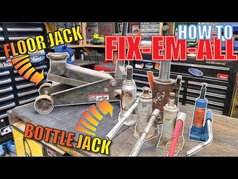 How To REPAIR Hydraulic Jacks & How They WORK Bottle, Floor, Pallet, ETC