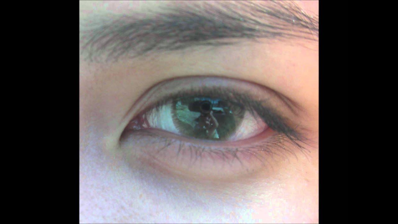 Adore Bi-Tone Yellow (on very dark brown-almost black eyes ...