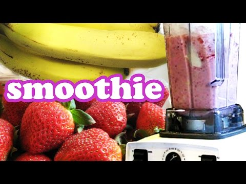 Strawberry Banana Smoothie Recipes - Breakfast Smoothies Recipe - Fruit Milkshake - Homeycircle