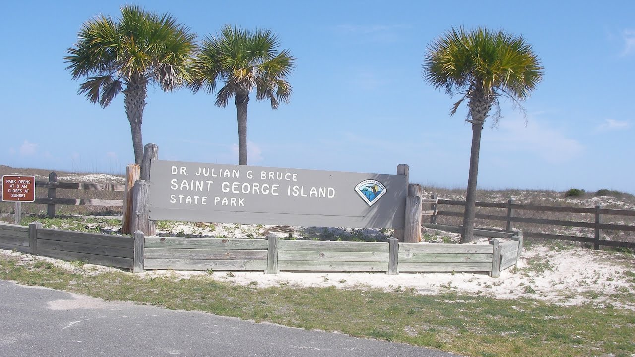St George Island State Park Florida Panhandle Map