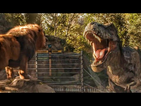 Welcome To Jurassic World / Lion Vs T Rex Scene - Jurassic World Fallen Kingdom (2018) Movie Clip HD