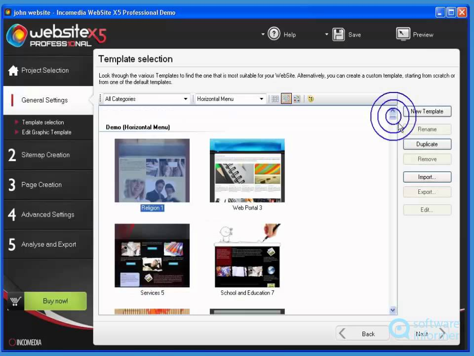 incomedia website x5 professional quick demo youtube