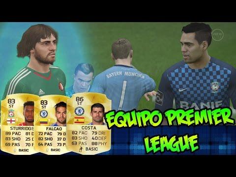Fifa 16  - Ojo Perin TOTY!  Plantilla Premier League - Cual Delantero Pongo, a  Falcao?