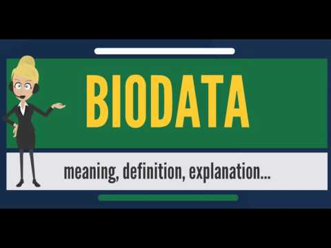 What Is Biodata What Does Biodata Mean Biodata Meaning