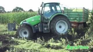 Maishäckseln 2012 Extrem - Maisernte am Limit  - Maschine vs. Schlamm [HD]