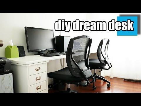 DIY Dream Desk Setup - A Stylish Desk For Two